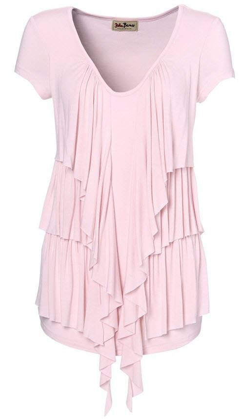 bluze dama marimi mari roz cu volane