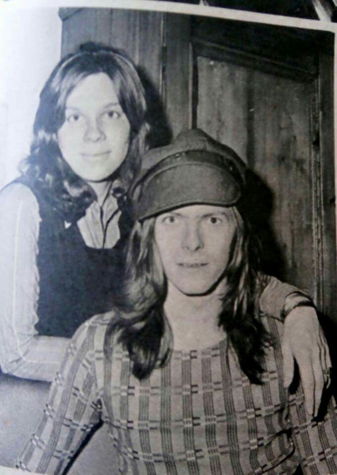 David Bowie and his ex-wife Angie in their hippie phase (early 70's), Lady T.