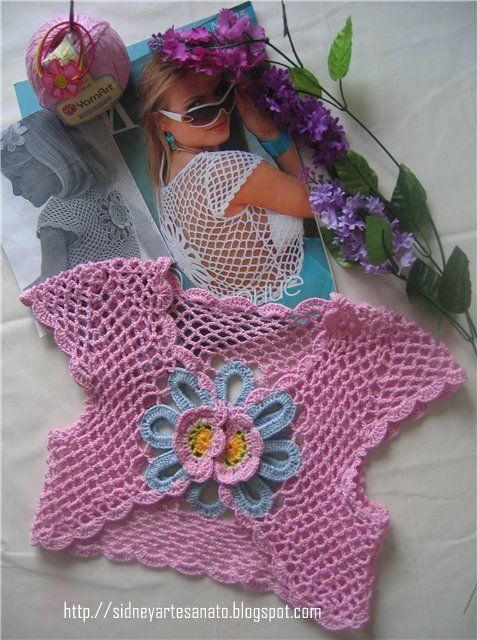 little girl's crochet bolero, chart pattern