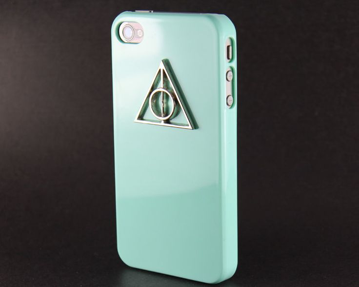 Deathly Hallows Harry Potter Light Green Hard Case for iPhone 4 Case, iPhone 4s Case, iPhone 4 Hard Case style A. $8.99, via Etsy.