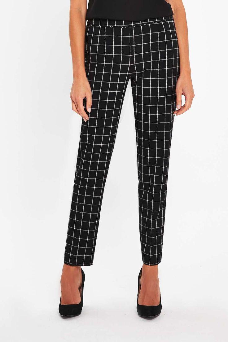 J2017  Monochrome Checked Trouser