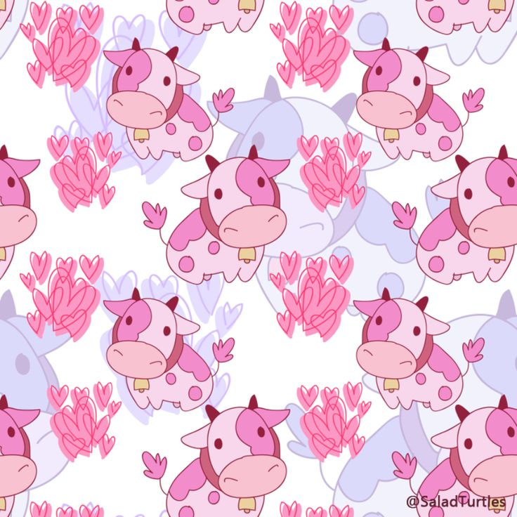 Pink Cow Pattern by SaladTurtles