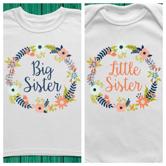 Bundle  Big Sister Little Sister Outfits Big by TrendyCactus