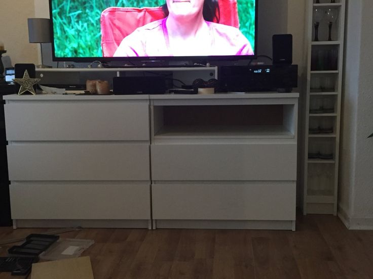 IKEA Malm chests as a TV highboard