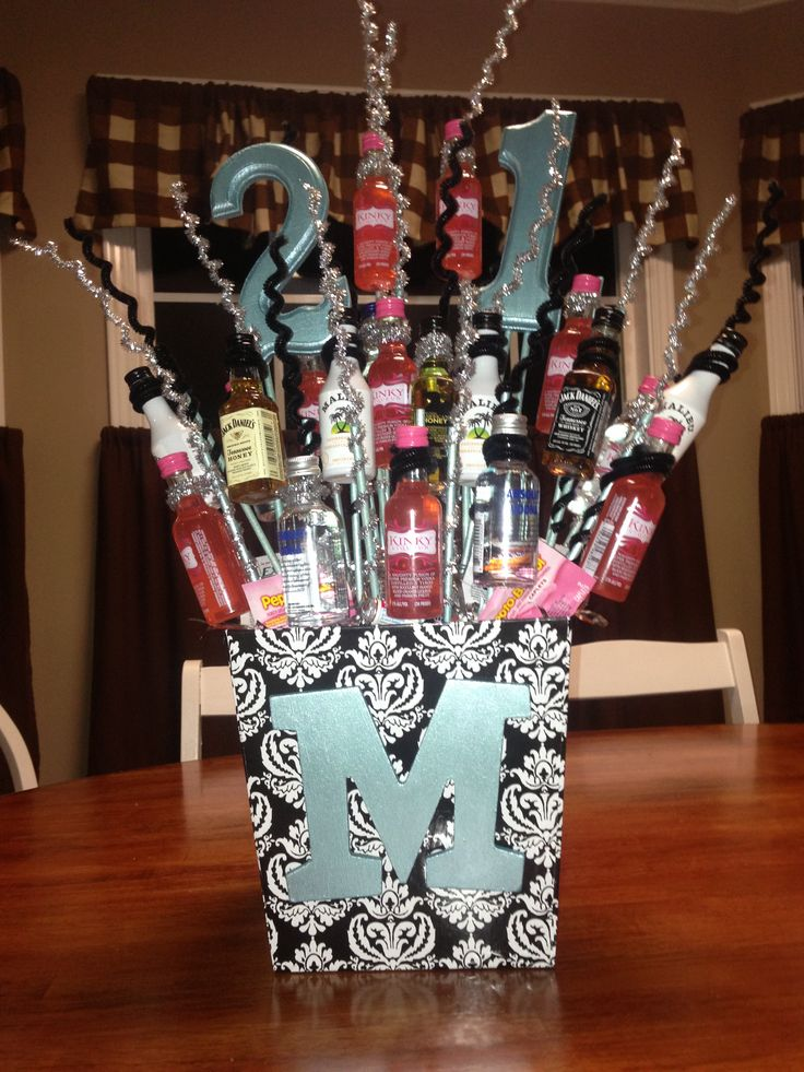 21st birthday present idea. 21 minis So Cute! want someone to make this for me C;