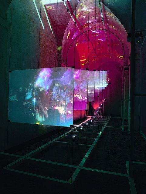 Semi Transparent Projection Surfaces Ephemeral