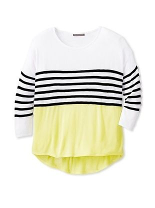 81% OFF Stella & Jamie Girl's Telde Tunic (Off White/Yellow)