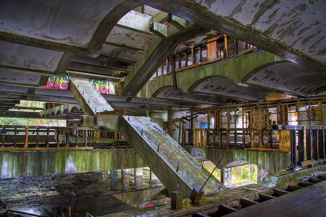 St Peters Seminary Staircase by Bora Horza, via Flickr: This guy runs a blog called Abandoned Scotland