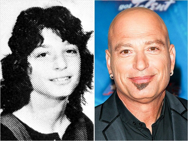 Howie MandelComedian Howie Mandel, who is now known as much for his clean-shaven head as he is for his extreme fear of germs, got expelled from high school not long after this full-haired photo was taken. Mandel's shoulder-length mane was curly, messy and unkempt: a far cry from the current look of the now-hairless (soul patch aside) host of America's Got Talent.