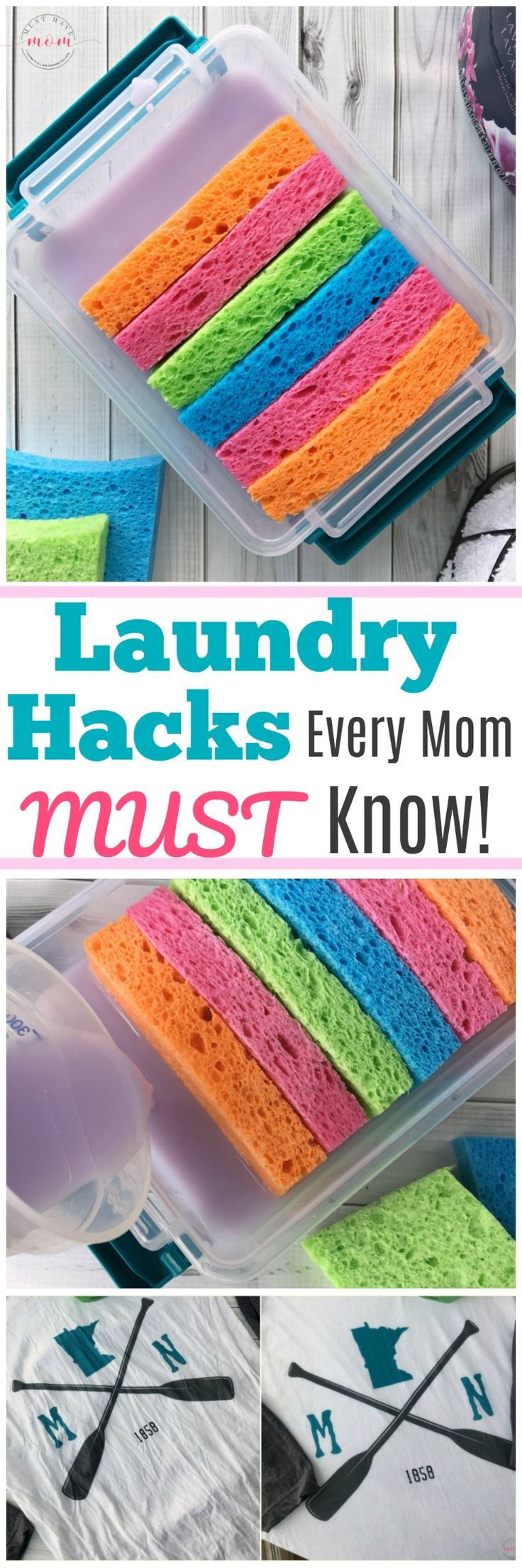 Laundry hacks every mom MUST know! How to get wrin…
