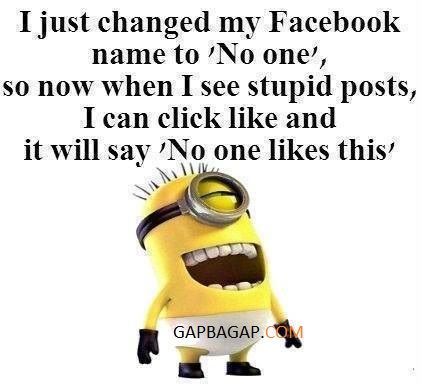Funny Minion Joke About Facebook