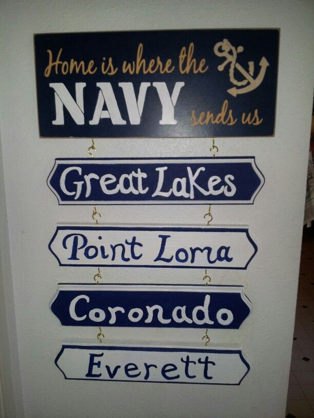 Home is where the Navy sends us :) hand painted craft I did myself!!