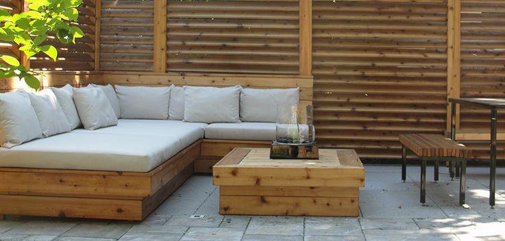Aménagement paysager et terrasse modernes à Outremont - Montreal Outdoor Living