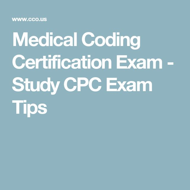 Medical Coding Certification Exam - Study CPC Exam Tips