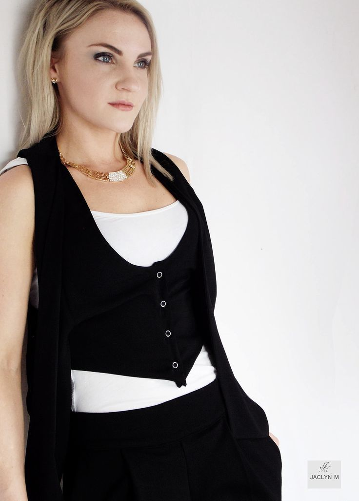 JACLYN M- -Delta drape waistcoat