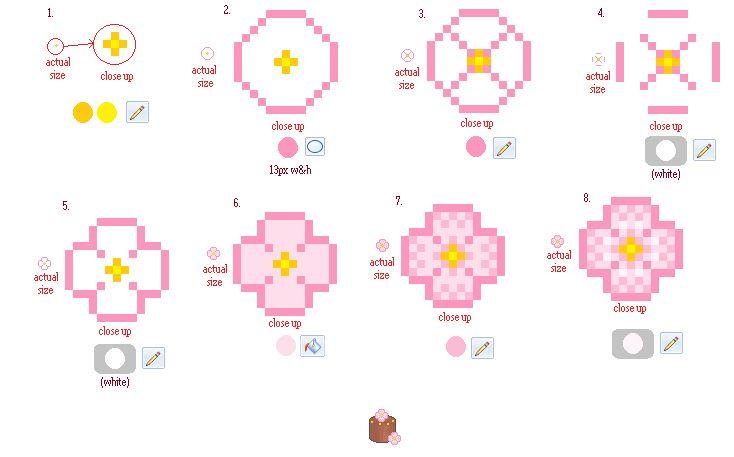 Simple Pixel Flower Tutorial by ~Buried-Above-Love on deviantART