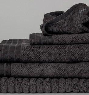 Bath Towels in Charcoal