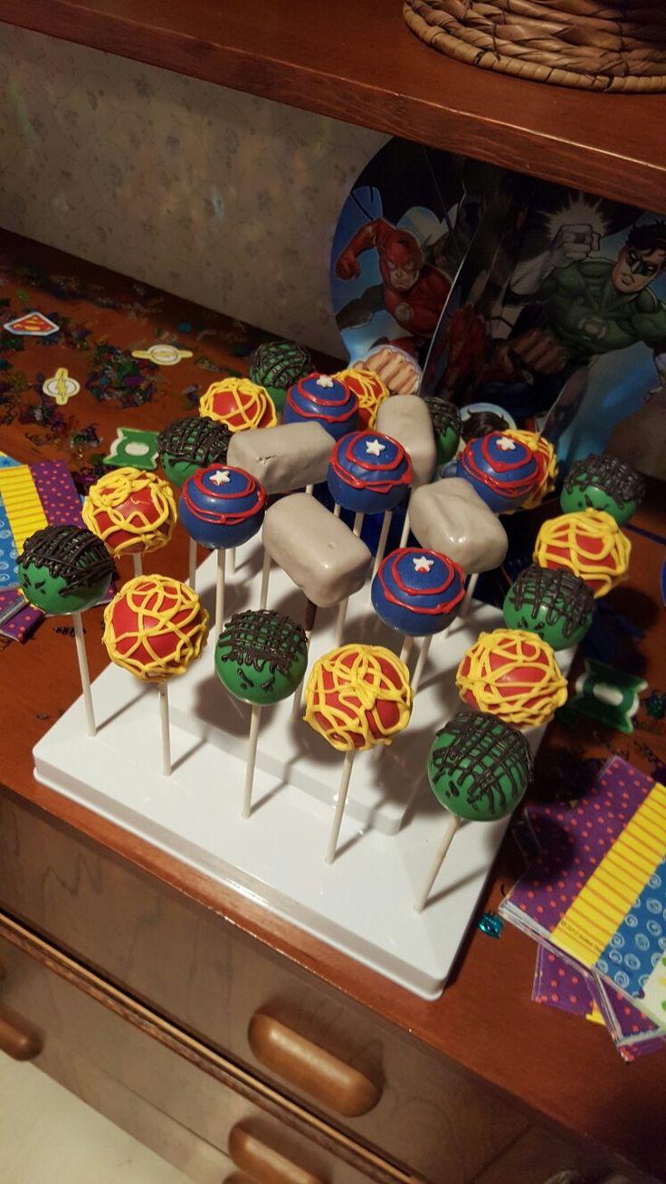 Avenger Cake Pops