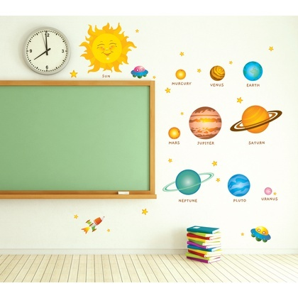 Planets DIY Home Decor Art Kids Room Eco Friendly Wall Sticker Removable  Decal Part 98