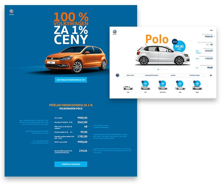 Microsite for VW.