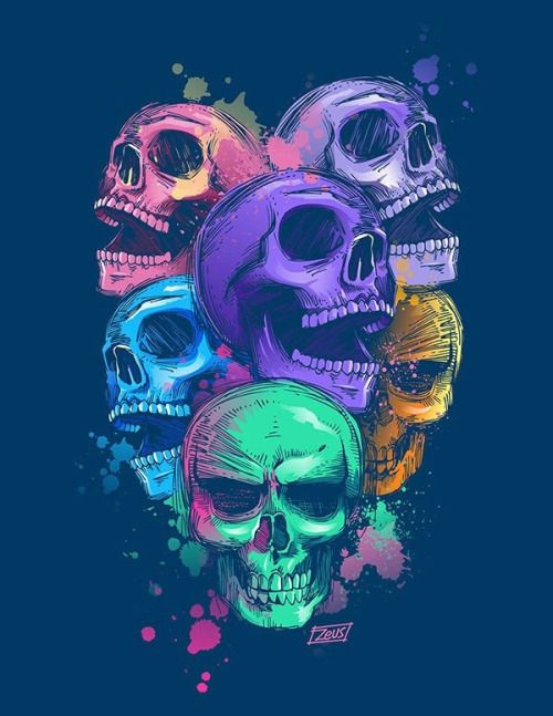 best 25 colorful skulls ideas on pinterest day of the