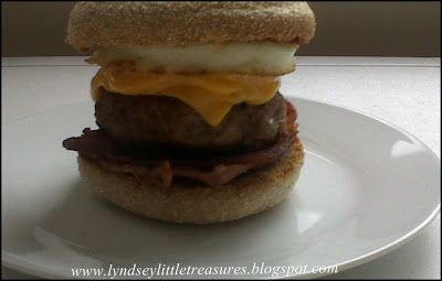 Make your own! Macdonalds Inspired Muffin Burger - Slimming World Styleeeee! this is too yummy not to repin! and healthy believe it or not!