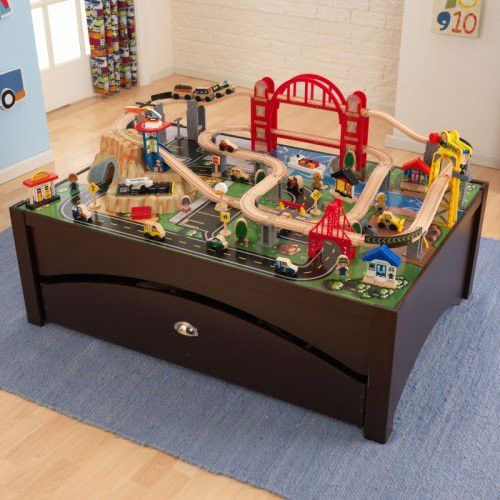 Imaginations Will Soar As Kids Explore The KidKraft Metropolis Train Table  Set. This Urban Scene Comes With 100 Colorful Pieces, Including The  Magnetic ...