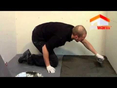 Prowarm Linear centre drain wet room shower tray 900 x 900 x 30mm