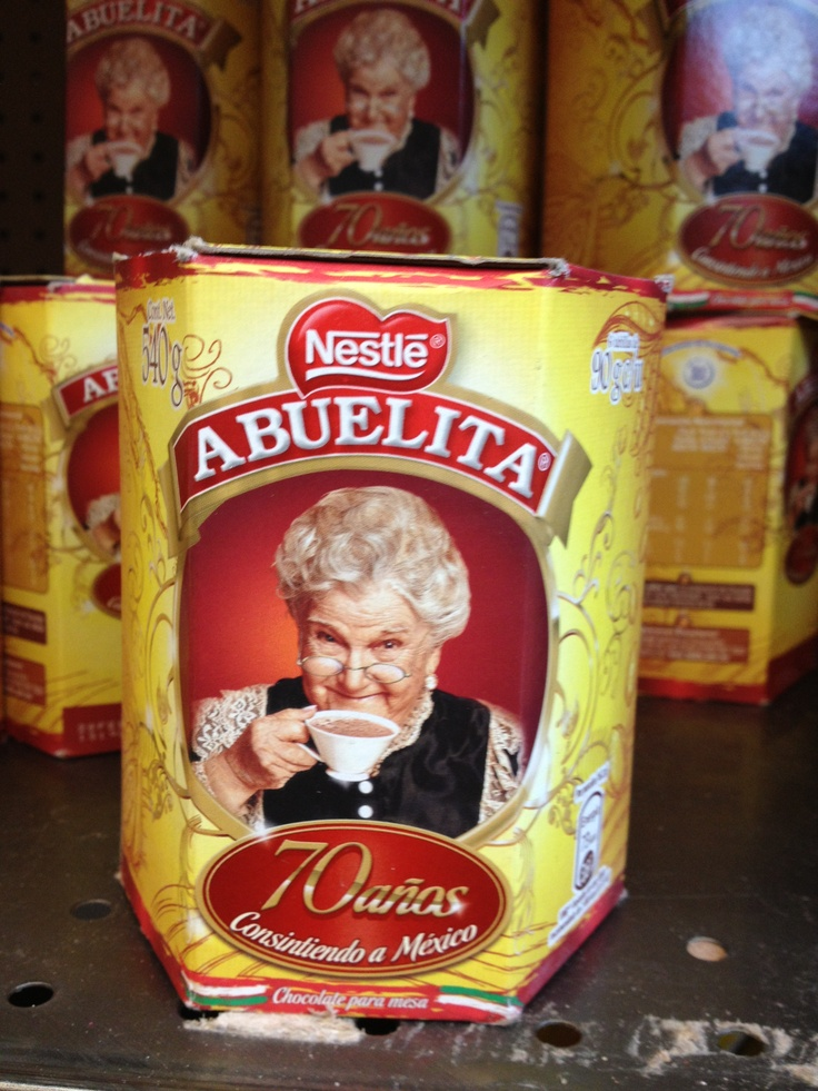Chocolate Abuelita Common brand of dark bitter Chocolate, it gets mixed with milk and served hot