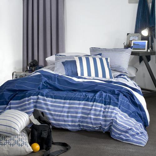 Printed polycotton | Horizontal stripes | Easy care | Matching pillowcase(s) | Machine washable