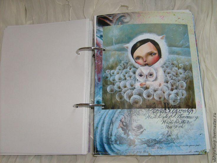 Купить Блокнот Алиса и вороны - блокнот, подарок, подарок на день рождения, винтажный стиль, алиса