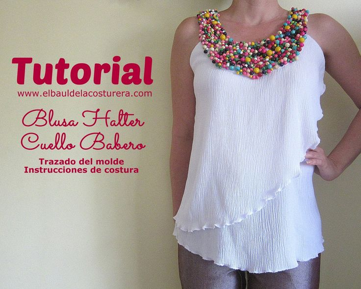 Halter neck blouse with bib type