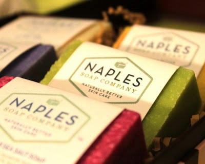 """Naples Soap Company """"famous"""" Sea Salt Soaps. Not only do they look beautiful and smell wonderful but they help with your skin too."""