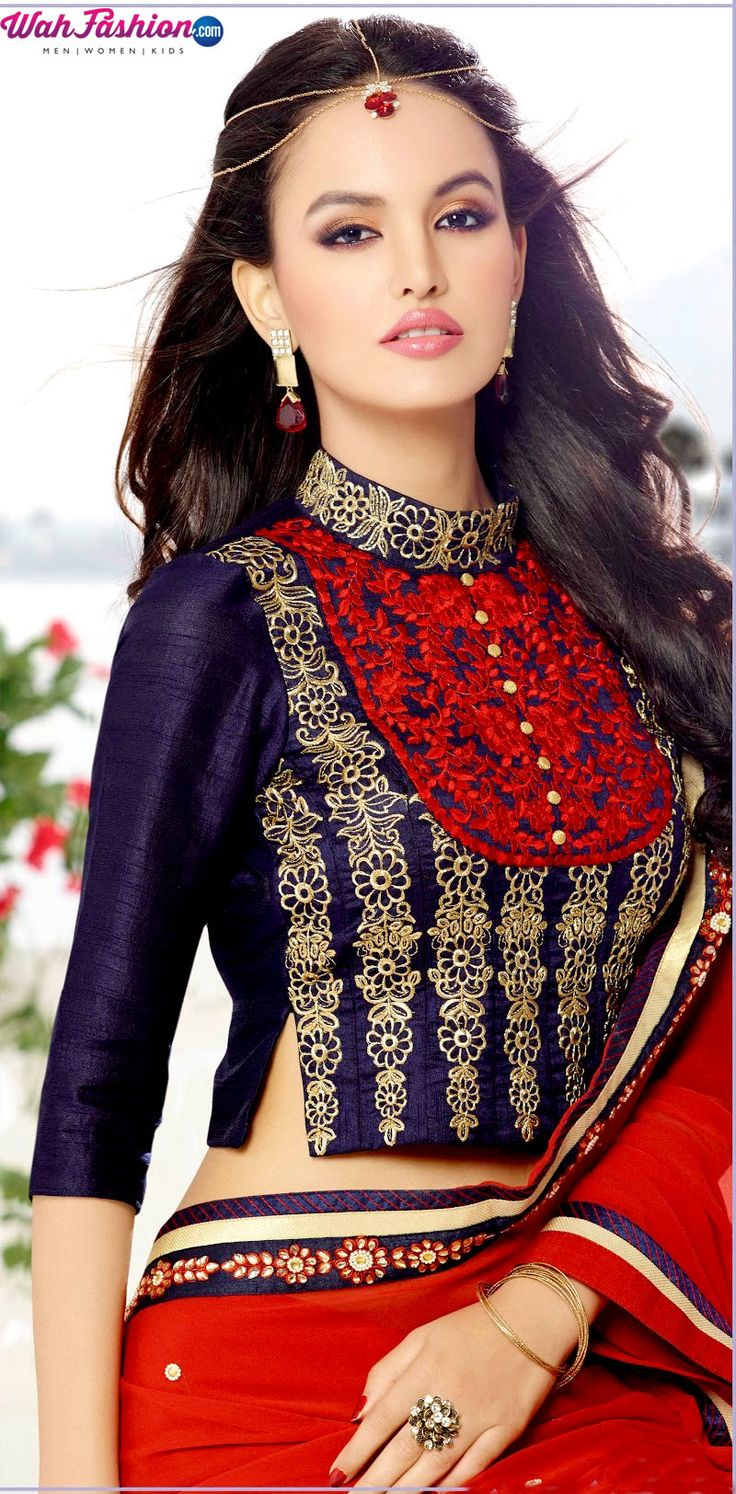 STUNNING RED AND VIOLET SAREE  http://www.wahfashion.com/stunning-red-and-violet-saree.html