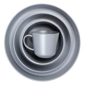 Dinnerware Gray 16Pc Set, $60, now featured on Fab.