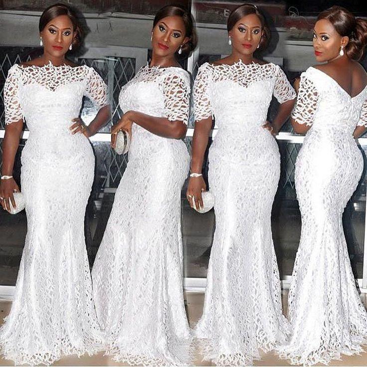 Short Sleeves Long White Dress