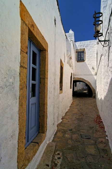 Beautiful architecture of Chora in Patmos island