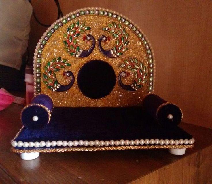 Pin by Shakila Raj on pooja room decor ideas | Ganapati ...