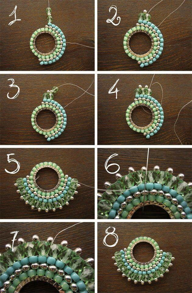 Beaded hoop earring | Beaded patterns | Pinterest | Bricks ...