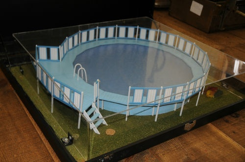 Vintage Salesman Sample Above Ground Swimming Pool Model Measures 28 5 By 24 5 Swimming