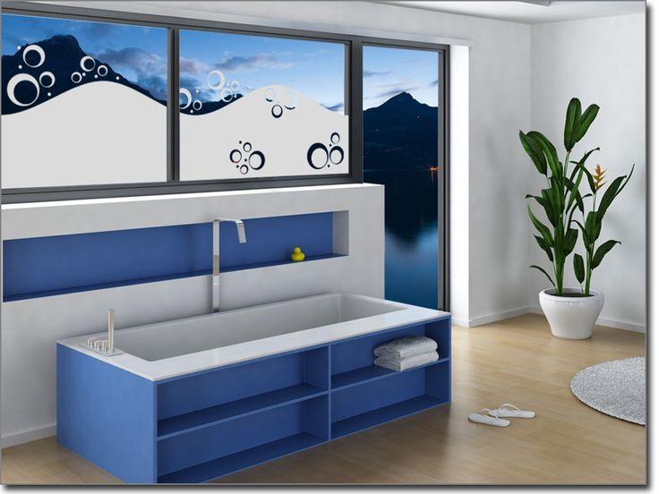 Stunning Diese ma gefertigte Folie f r Fenster ist ideal geeignet um Ihr Badezimmer zu versch nern und dient gleichzeitig als Sichtschutz Hier bestellen