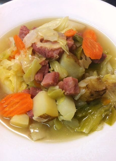 Ham Cabbage and Potato Soup