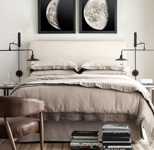 Q: I've fallen in love with these vintage moon phase prints from Restoration Hardware, but unfortunately I'm on a tight budget and can't afford them. I was wondering if anyone knew of alternate sources for similar prints, especially since the book they are taken from (Atlas Photographique de la Lune) is very old and might be in the public domain by now.