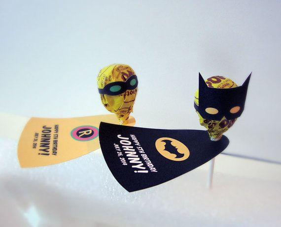 Super Hero Inspired Personalized Lollipop b