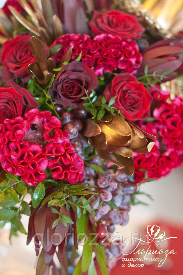 wedding decor marsala red fruits centerpiece свадьба бордовый цвет марсала свадьба бордовый цвет марсала