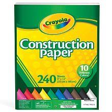 Crayola Construction Paper - 240 Pieces