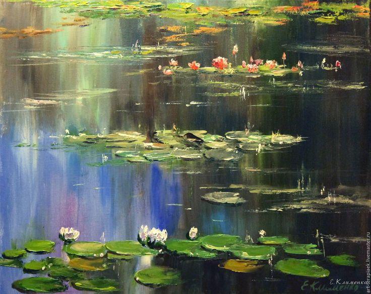 Купить Кувшинки Моне - картина в подарок, картина для интерьера, картина, картина маслом, картина на холсте