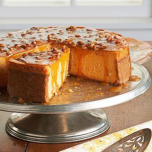 Aint Helen's Sweet Potato Cheesecake - Besides tinting the cake a lovely pale orange, sweet potatoes lend a pleasant texture to the rich, creamy filling. This recipe comes from Patty Pinner's cookbook Sweets