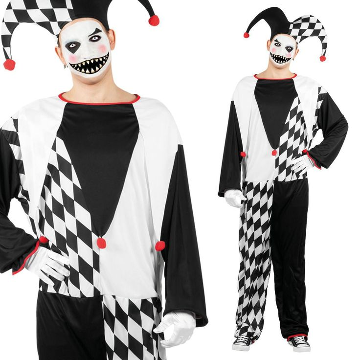 fancydressvip - Mens Black and White Classic Court Jester Fancy Dress Costume, £16.99 (http://www.fancydressvip.com/mens/mens-black-and-white-classic-court-jester-fancy-dress-costume/)