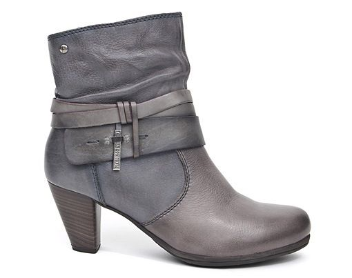 Nora's Shoe Shop-829-9834 grey ankle boot by Pikolinos